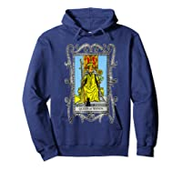 The Queen Of Wands Tarot T-shirt Hoodie Navy