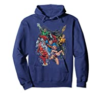 Justice League Refuse To Give Up Shirts Hoodie Navy