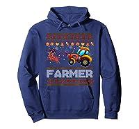 Tractors Farmer Christmas Funny Farming Xmas Gift Shirts Hoodie Navy