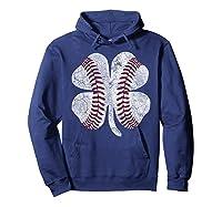 St Patrick\\\'s Day Shamrock Baseball Saint Paddy\\\'s T-shirt Hoodie Navy