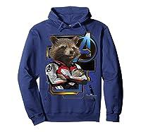 Marvel Avengers Endgame Rocket Logo Graphic T-shirt Hoodie Navy