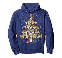 Shetland Sheepdog Christmas Tree Funny Sheltie Christmas T-shirt Hoodie Navy