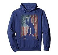 Vintage Flag American Brazilian Jiu-jitsu Lovers Gift Family T-shirt Hoodie Navy