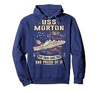 Uss Morton (dd-948) T-shirt Hoodie Navy