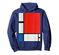 Composition With Red Blue And Yellow T-shirt Hoodie Navy