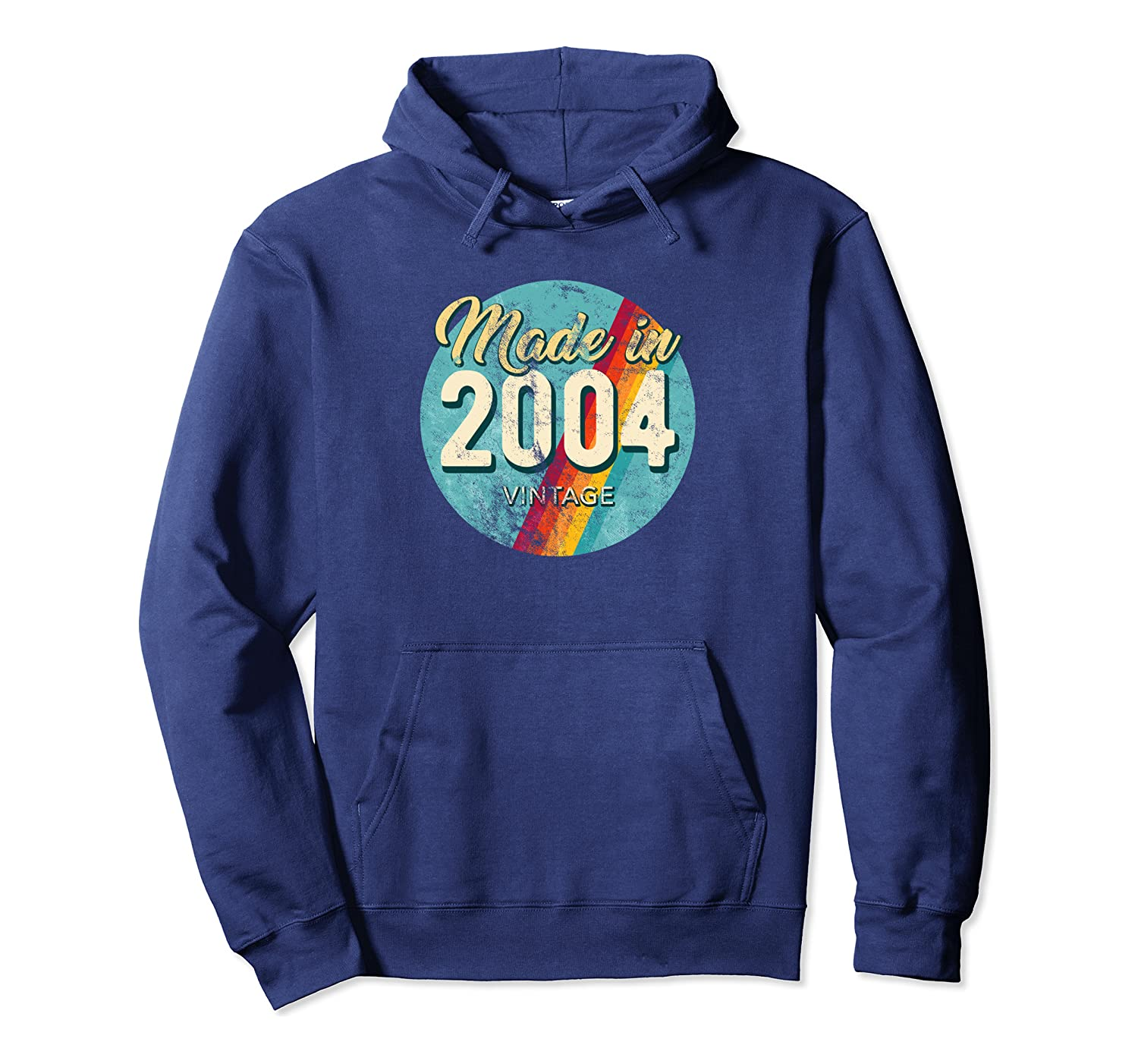 Made In 2004 Vintage 15th Birthday Retro Throwback Pullover Hoodie