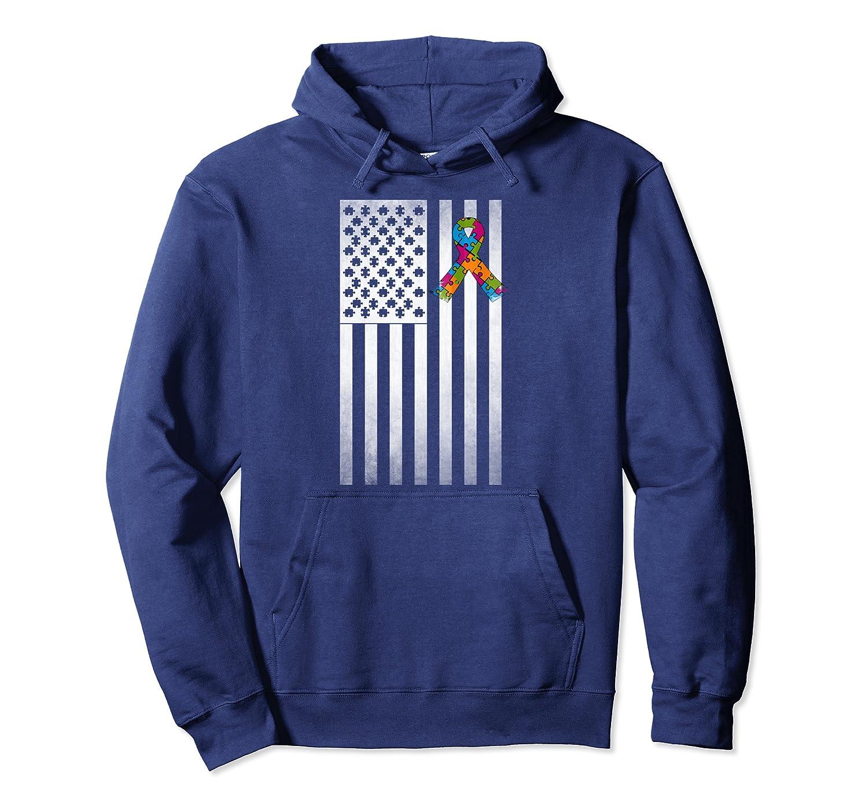 Autism Awareness Hoodie USA American Flag Autism Hoodie