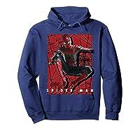 Marvel Infinity War Spider-man Web Jump Graphic T-shirt Hoodie Navy