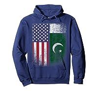 Pakistan Usa Pakistani American Flag Pride Shirts Hoodie Navy