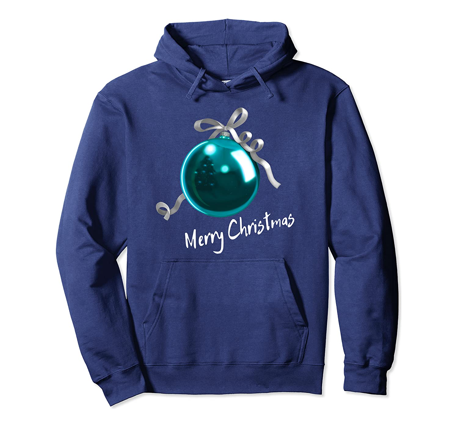 Christmas Ball Christbaum Kugel – blue (D010-0559A) Pullover Hoodie
