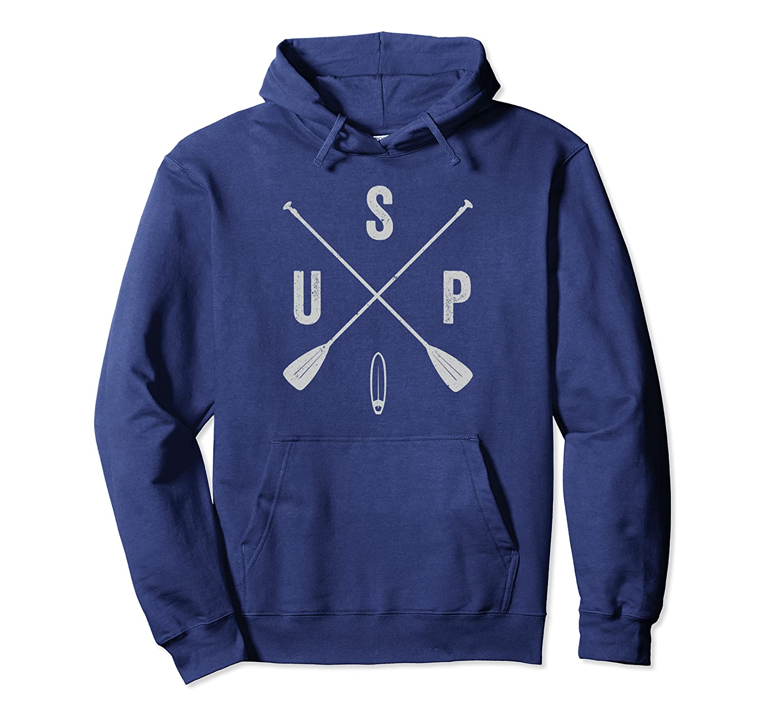 Classic Stand Up Paddle Board Crossed Paddle Design Pullover Hoodie