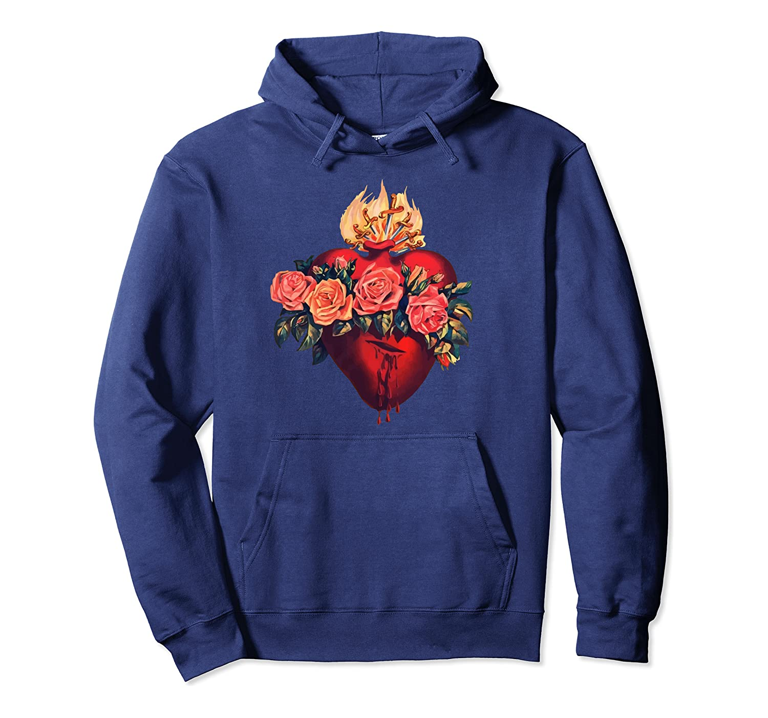 Immaculate Heart of Mary Vintage Blessed Catholic Sorrows Pullover Hoodie