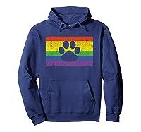 Gay Furry Pride Flag Gift Furries Rainbow Lgbt Fandom Paw Shirts Hoodie Navy