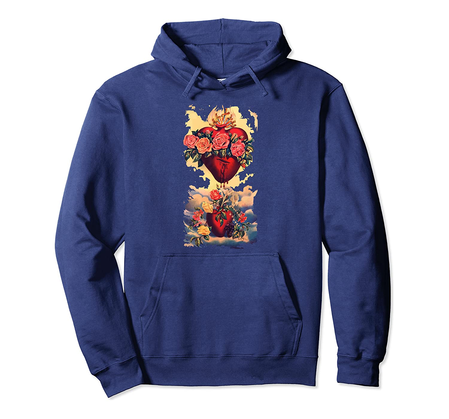 Immaculate Heart of Mary Vintage Blessed Catholic Girl Gift Pullover Hoodie