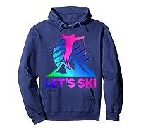 Retro Ski Vintage 80s 90s Skiing Out Shirts Hoodie Navy