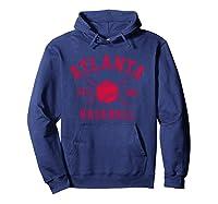 Atlanta Baseball   Atl Vintage Brave Retro Gift Pullover Shirts Hoodie Navy