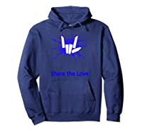 Share And Love For Beautiful Shirts Hoodie Navy