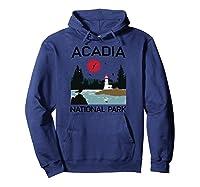 Vintage Acadia National Park Retro 80s Maine Mount Island Shirts Hoodie Navy