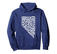 State Of Nevada Made Up Of Guns 2nd Adt Rights Shirts Hoodie Navy