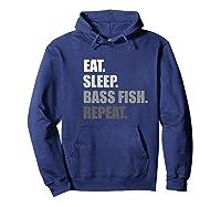 Bass Fishing Premium T-shirt Hoodie Navy