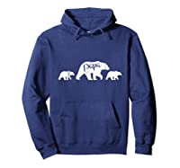 Papa Bear T Shirt With Two Cubs Father S Day Dad Hoodie Navy