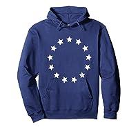 13 Colonies T Shirt Stars Betsy Ross Flag Usa American Hoodie Navy