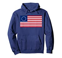Usa American Flag 13 Stars Betsy Ross Patriotic 4th Of July T Shirt Hoodie Navy