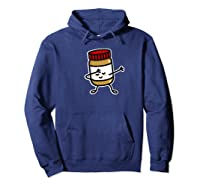 Dab Dabbing Peanut Butter Jar Funny Jelly Spreads Premium T Shirt Hoodie Navy