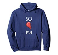 So Ma Cute Soulmates Valentine S Day 2020 Partners Premium T Shirt Hoodie Navy