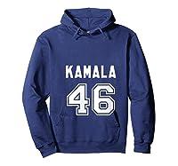 Kamala 46 - Sports Style Kamala Harris Supporter T-shirt Hoodie Navy