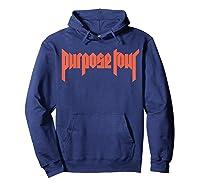 Justin Bieber Purpose Tour Cross Dateback T-shirt Hoodie Navy