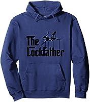 Funny Locksmith - Lockfather T-shirt Hoodie Navy