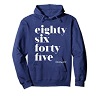 Anti Trump Eighty Six Forty Five 8645 Impeach T Shirt Hoodie Navy