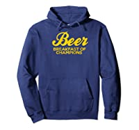 Beer Breakfast Of Champions T-shirt Vintage Inspired Funny Raglan Baseball Tee Hoodie Navy