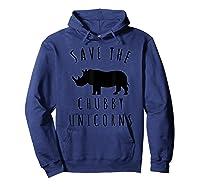 Save The Chubby Unicorns T-shirt Hoodie Navy