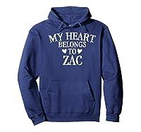 My Heart Belongs To Zac- Country Music Gift Premium T-shirt Hoodie Navy