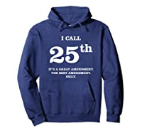 25th Adt T Shirt Incapable Impeach Trump Protest Hoodie Navy