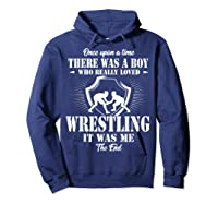 Once Upon A Time Boy Loved Wrestling T Shirt Hoodie Navy