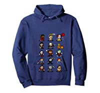 Friends Pixel Halloween Icons Scary Horror Movies T Shirt Hoodie Navy