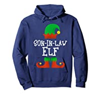 Son-in-law Elf Christmas Funny T-shirt Hoodie Navy