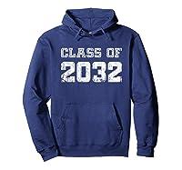 Class Of 2032 Pre K Graduate Preschool Graduation Shirts Hoodie Navy