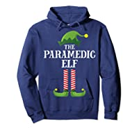Paramedic Elf Matching Family Group Christmas Party Pajama Shirts Hoodie Navy