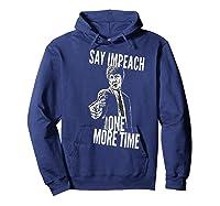 Impeach T Shirt Hoodie Navy