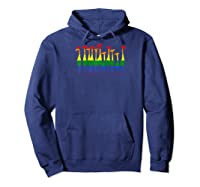 Fun Gay Pride Lgbt Giraffe Rainbow Lesbian Gift Baseball Shirts Hoodie Navy