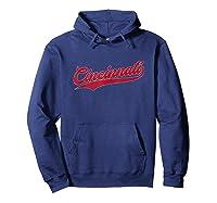 Cincinnati Baseball Ohio Pride Vintage Retro Red Gift Shirts Hoodie Navy