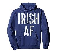 Irish Af T Shirt Vintage Saint Patrick Day Gift Shirt Hoodie Navy