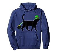Cat Leprechaun Shirt Funny Cat Saint Patrick S Day Shirt Hoodie Navy
