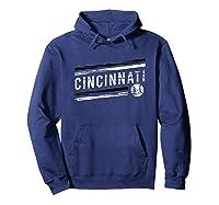 Retro Cincinnati Fan Souvenir Shirts Hoodie Navy