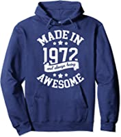 Made In 1972 49 Years Old Bday 49th Birthday Gift T-shirt Hoodie Navy