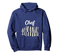 Chef Cooking Vintage Knives Funny Culinary Chefs Gifts T Shirt Hoodie Navy